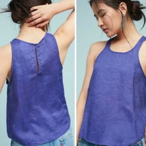 Maeve by Anthropology l Linen Swing Top Tank